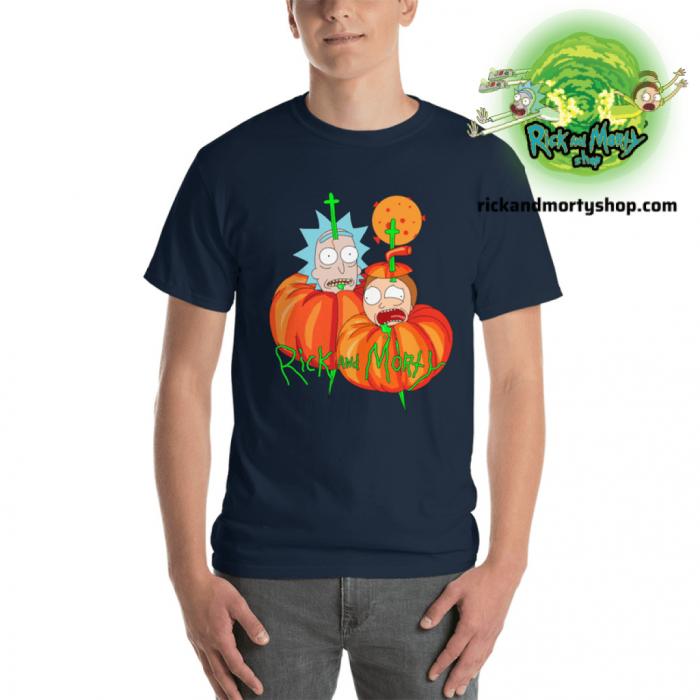 R&m Halloween T-Shirt / Navy Blue S